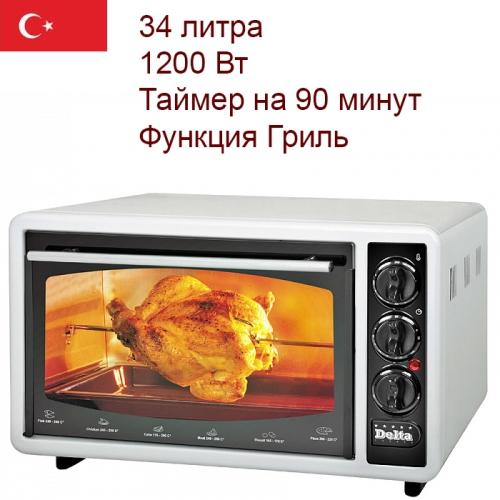 Духовка электрическая 34л DELTA D-0324