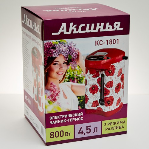 Чайник-термос 800 Вт, 4.5 л, КС-1801, Маки