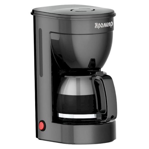 Кофеварка 650 Вт, 750 мл, 6 чашек, ЯР-552, черная