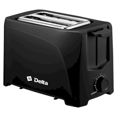 Тостер 700 Вт DELTA DL-6900, цвета: белый, черный