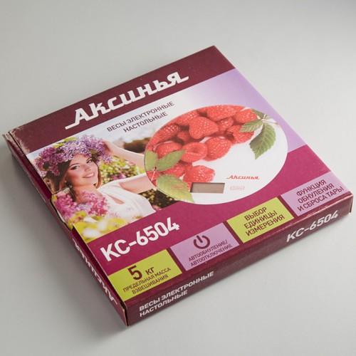 Весы 5 кг АКСИНЬЯ КС-6504 Малинка