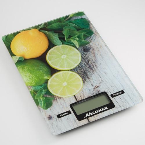 Весы 10 кг АКСИНЬЯ КС-6510 Лайм
