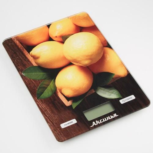 Весы 5 кг АКСИНЬЯ КС-6514 Лимоны