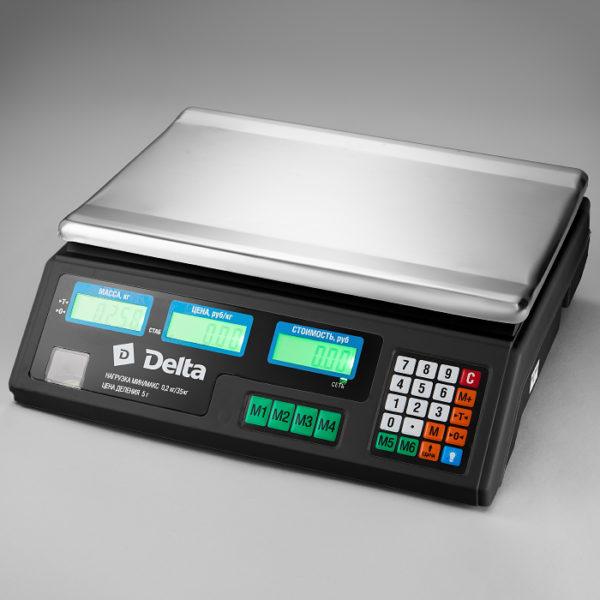 Весы до 35кг электронные торговые настольные Delta ТВН-35