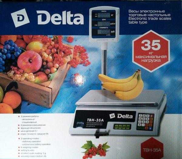 Весы до 35кг электронные торговые настольные Delta ТВН-35А
