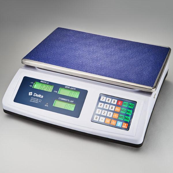 Весы до 50кг электронные торговые настольные Delta ТВН-50