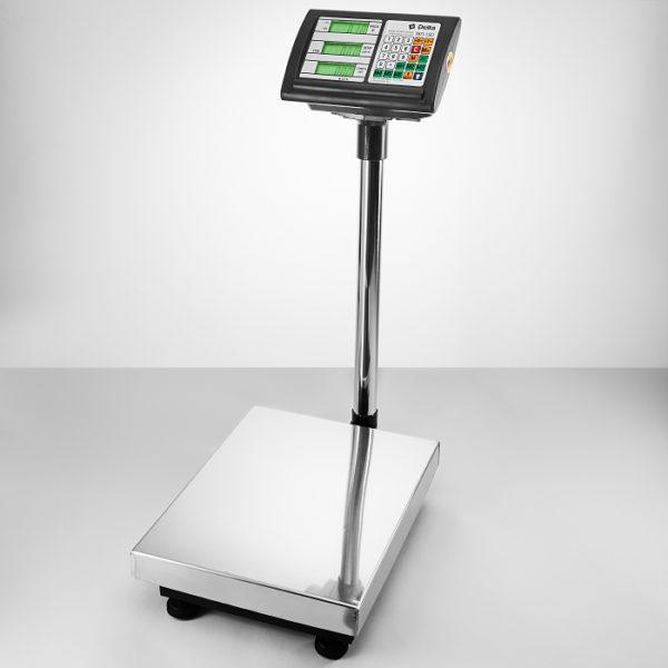 Весы до 150кг электронные торговые платформенные напольные Delta ТВП-150