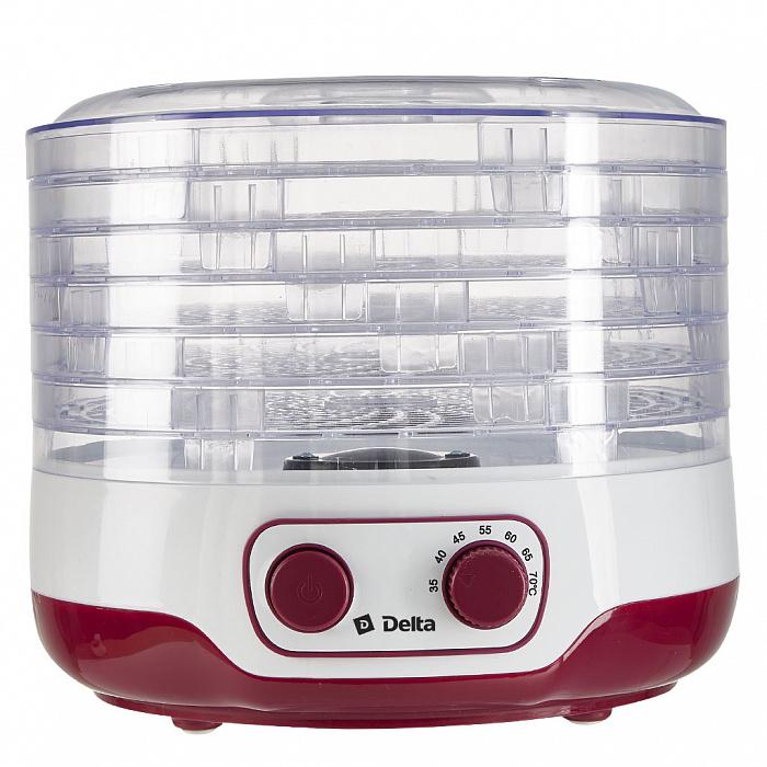 Сушилка для овощей и фруктов, 250 Вт, 8 л, 5 секций DELTA DL-6890