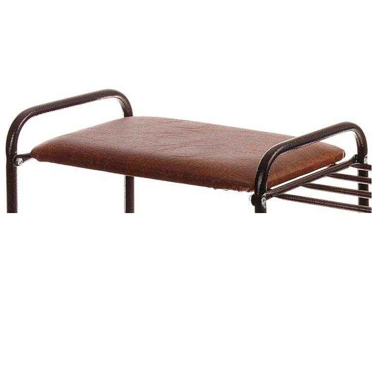 Этажерка для обуви 3-ярусная с сиденьем