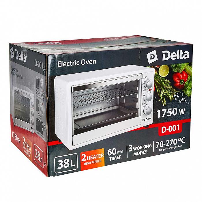 Духовка электрическая 38л 1750Вт DELTA D-001