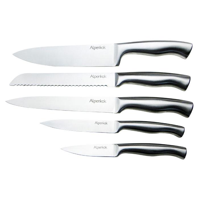 Набор ножей на деревянной подставке 6 предметов AK-2103