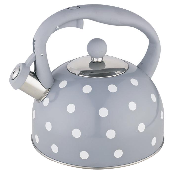 Чайник со свистком 2,7 л BE-0576 серый