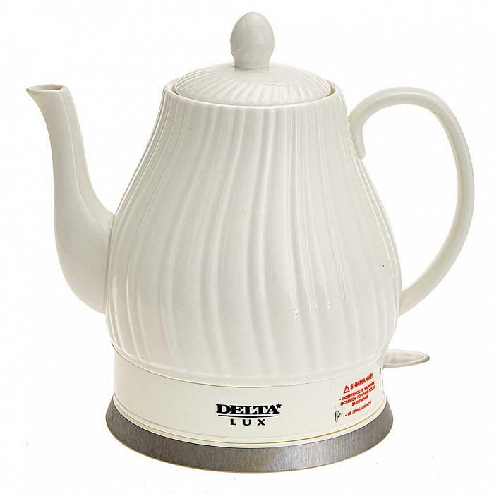Чайник электрический 1500 Вт 1,5 л DELTA LUX DE-1006 белый