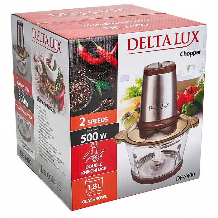 Измельчитель электрический 500 Вт DELTA LUX DE-7400 коричневый