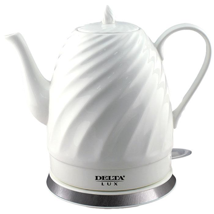 Чайник электрический 1500 Вт 1,5 л DELTA LUX DL-1238 белый
