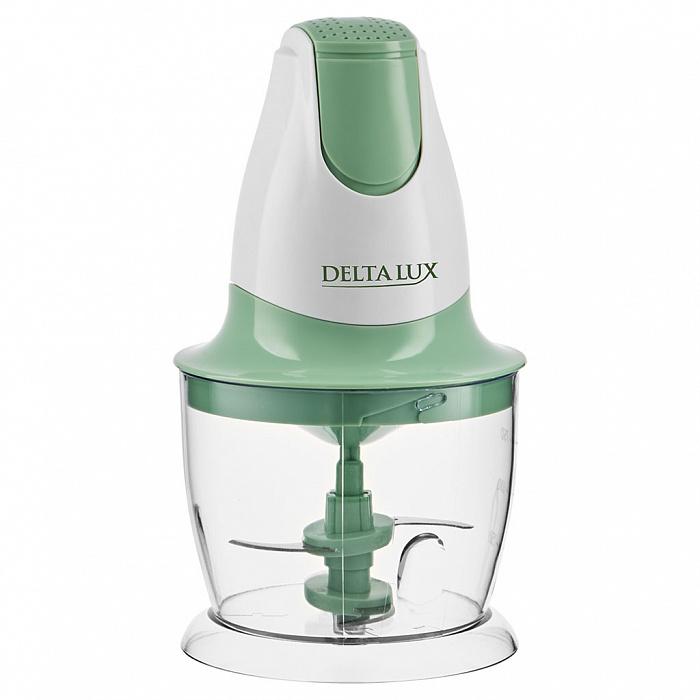 Измельчитель электрический 300 Вт, 750 мл DELTA LUX DL-7417 белый с зеленым