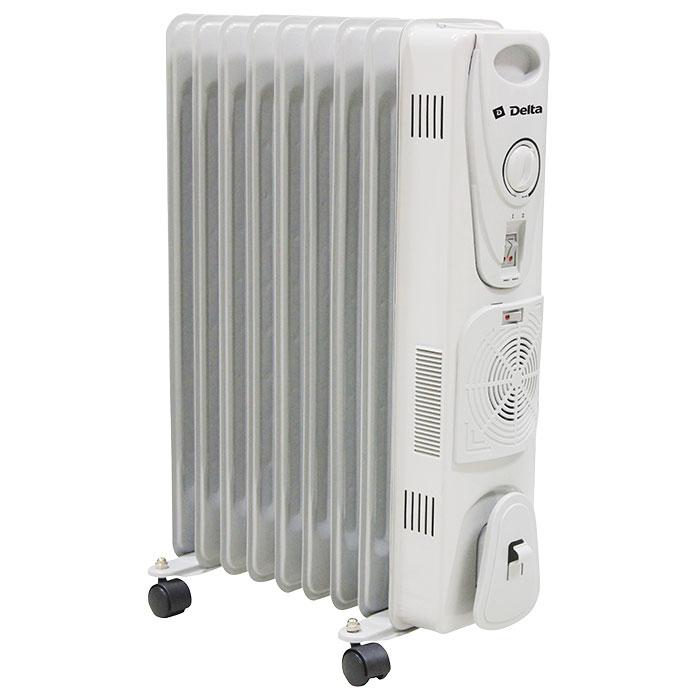 Обогреватель масляный 9-секционный с вентилятором D25F-9