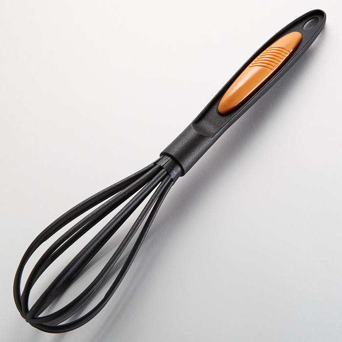 """Венчик 32 см BE-1655Y """"Comfort orange"""" черный с оранжевым"""