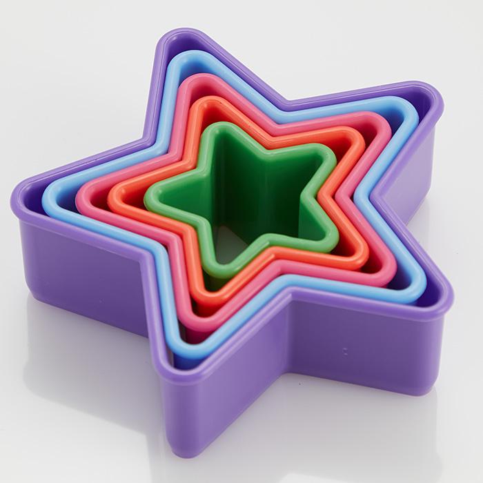 """Набор пластиковых форм для печенья 5 размеров """"Звездочки"""" Webber BE-4412/5"""