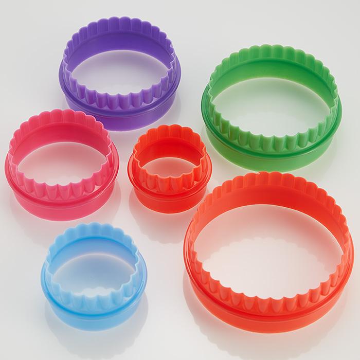 """Набор двусторонних пластиковых форм для печенья 6 размеров """"Кружочки"""" Webber BE-4413/6"""