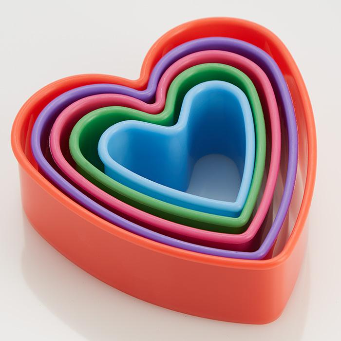 """Набор пластиковых форм для печенья 5 размеров """"Сердечки"""" Webber BE-4416/5"""