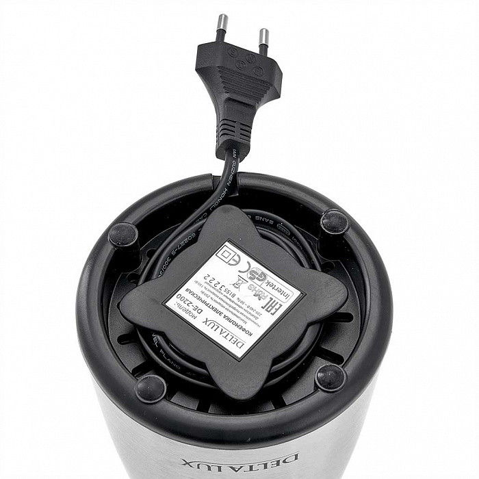 Кофемолка электрическая 250 Вт, 50 г DELTA LUX DE-2200 нержавеющая сталь