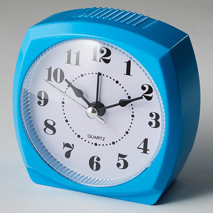 Будильник 8,5x4,6х8,6см DT8-0006 голубой