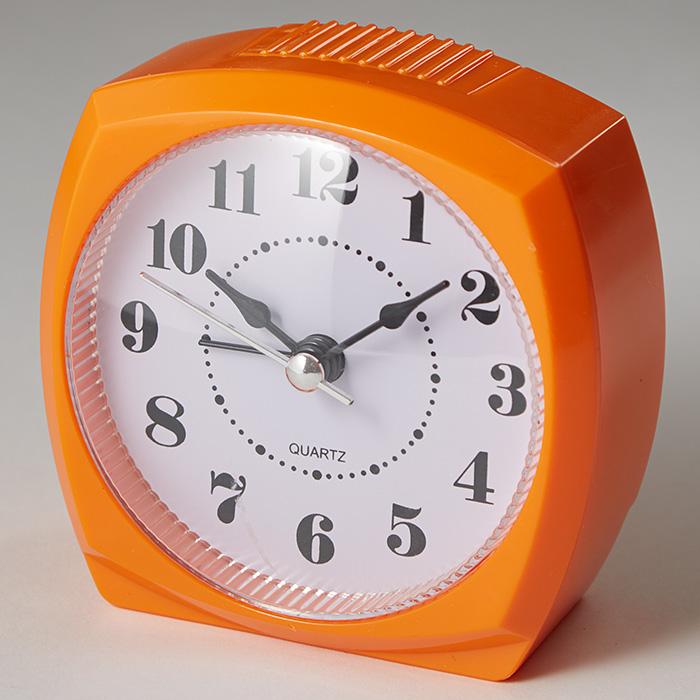 Будильник 8,5x4,6х8,6см DT8-0008 оранжевый
