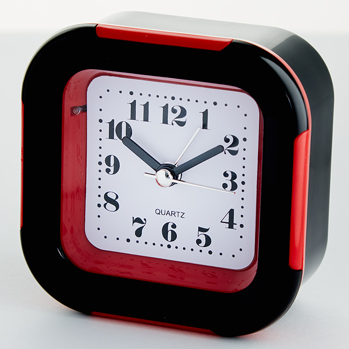 Будильник 9x4,5х9,5см DT8-0015 с подсветкой, красный