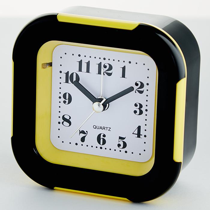 Будильник 9x4,5х9,5см DT8-0016 с подсветкой, желтый