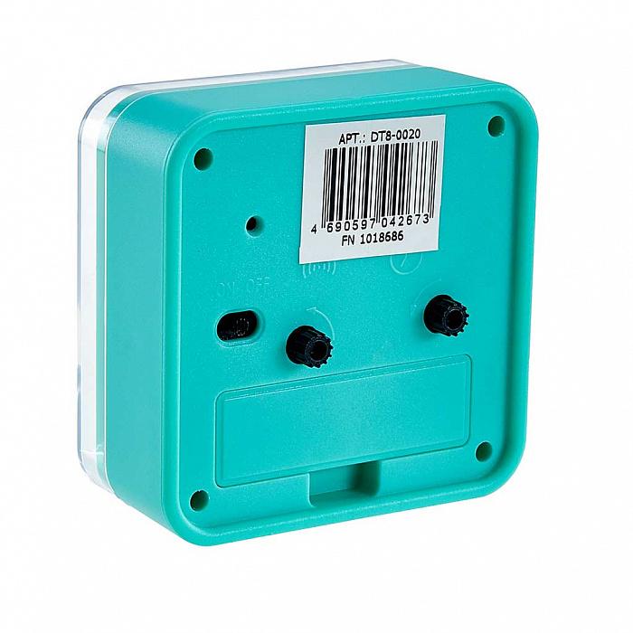 Будильник 8x4х9 см DT8-0020 зеленый