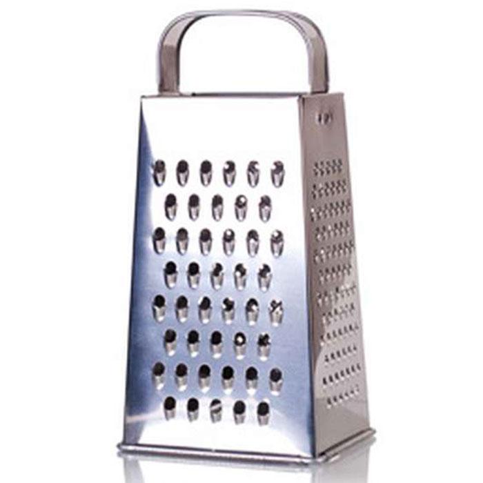 Терка универсальная 4-гранная 11х8,5х22см К01.000.01 с металлической ручкой