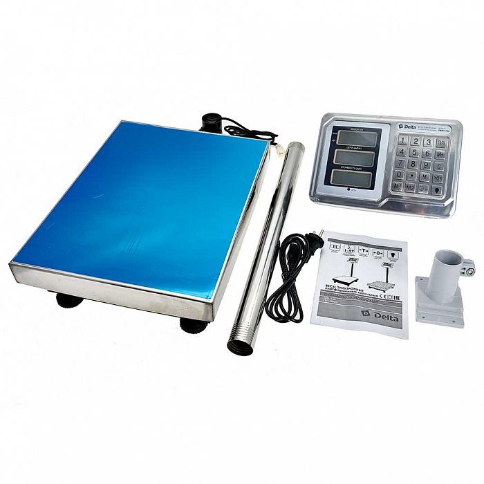 Весы электронные торговые платформенные напольные Delta до 150 кг ТВП1-150