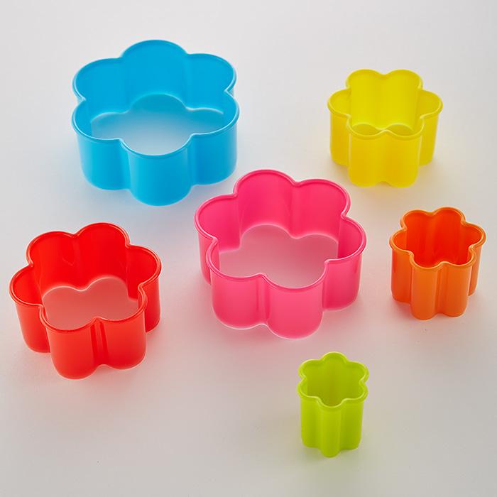 """Набор пластиковых форм для печенья 6 размеров """"Цветок"""" АК-623Р/6"""