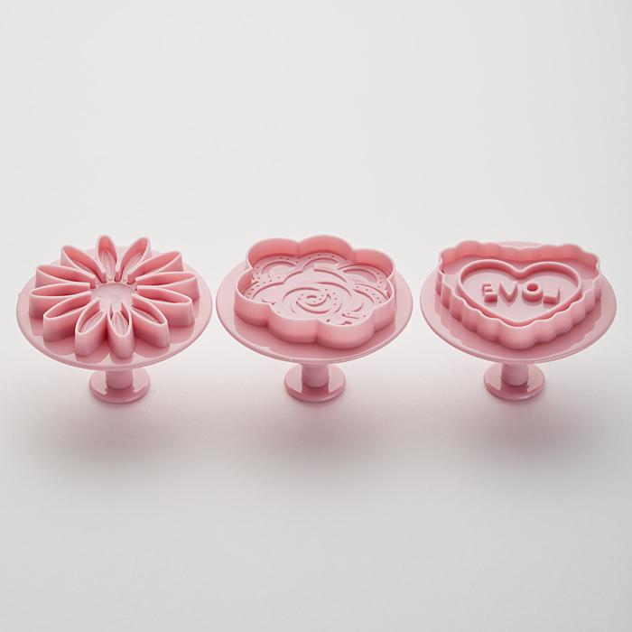 Набор плунжеров кондитерских 3 штуки BE-0363 темно-розовый