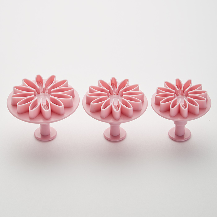 """Набор плунжеров кондитерских 3 штуки BE-0365 """"Цветы"""" темно-розовый"""