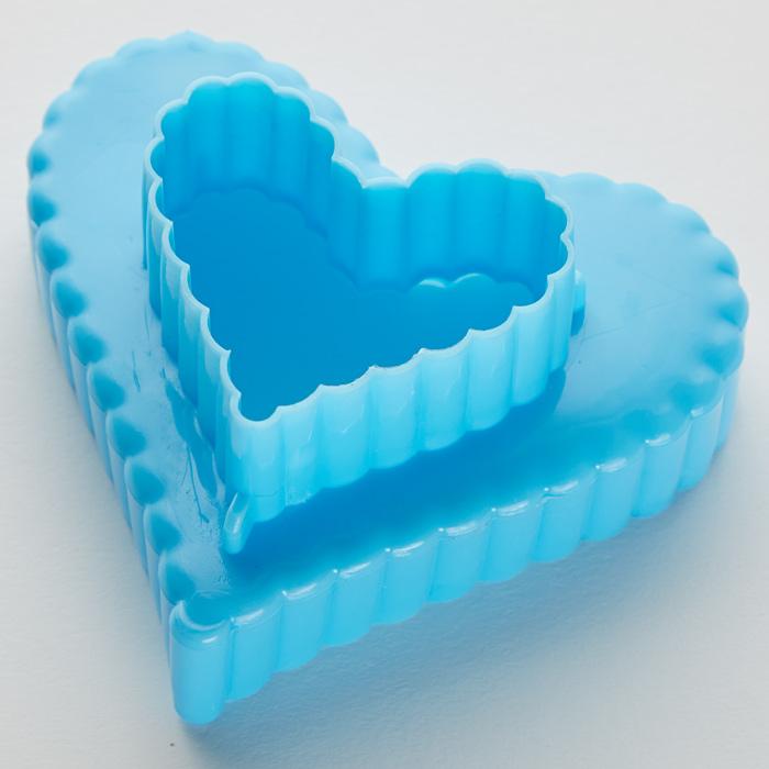 """Набор двусторонних пластиковых форм для печенья """"Сердца"""" 3 размера BE-4307P/3"""
