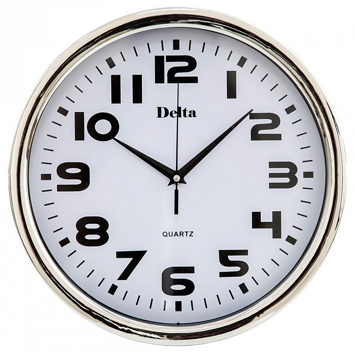 Часы настенные 31 см DT-0086 серебро
