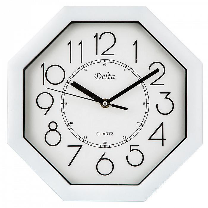 Часы настенные 27,5 см DELTA DT-0093 белые