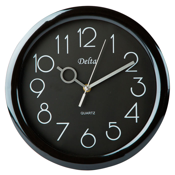 Часы настенные 28 см DT-0127 черные