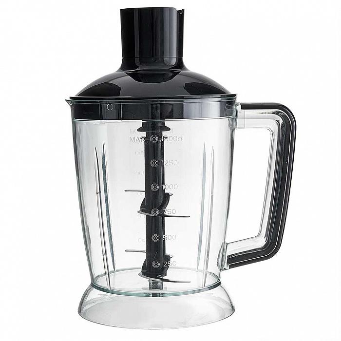 Блендер погружной 1000 Вт DELTA LUX DE-7003B с измельчителем, венчиком, стаканом, черный