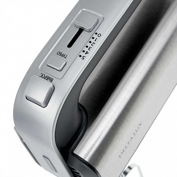 Миксер электрический 700 Вт DELTA LUX DE-7701 нержавеющая сталь с черным