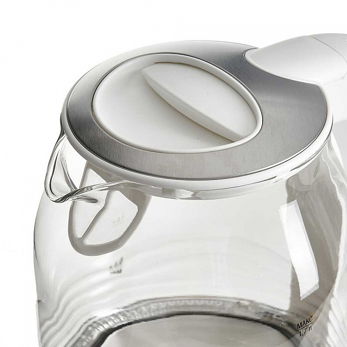 Чайник электрический 2200 Вт, 1,7 л DELTA LUX DL-1206W белый