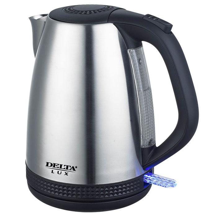 Чайник электрический 2200 Вт, 1,7 л DELTA LUX DL-1285 с окном