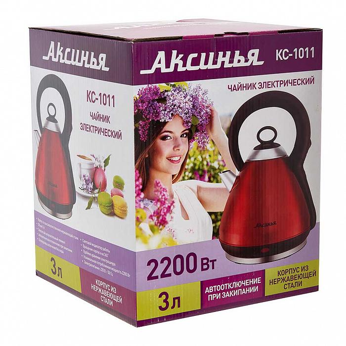 Чайник электрический 2200 Вт, 3 л АКСИНЬЯ КС-1011 красный