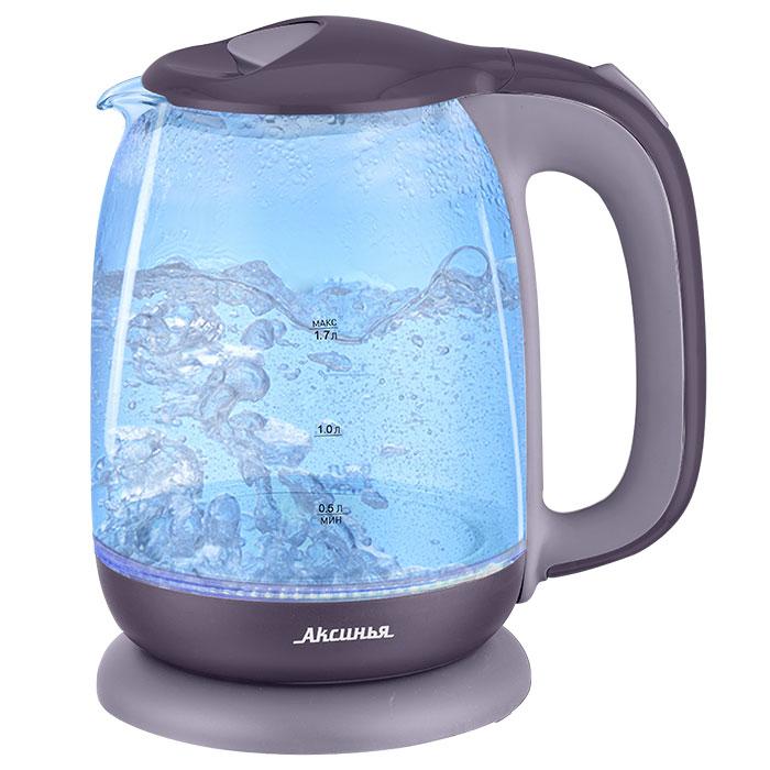 Чайник электрический 2200 Вт, 1,7 л АКСИНЬЯ КС-1020 фиолетовый