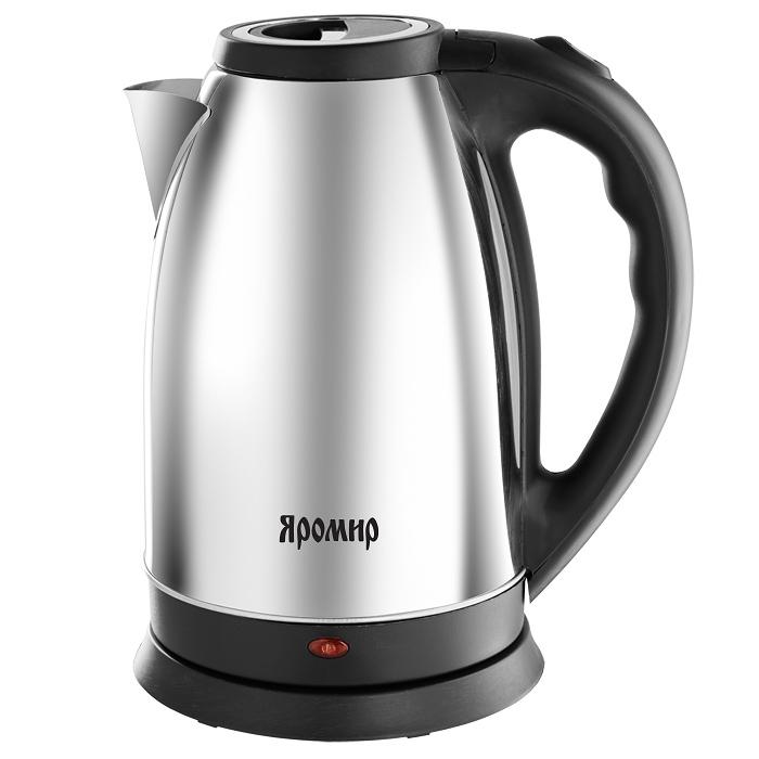 Чайник электрический 2000 Вт, 2,5 л ЯРОМИР ЯР-1056 глянцевый, черный