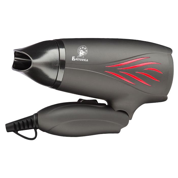 Фен 1400 Вт ВАСИЛИСА ВА-3001 черный с красным