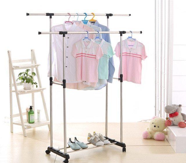 Вешалка для одежды 145х43х155 см, раздвижная, 2 перекладины (Копировать)