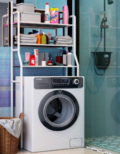 Стеллаж для ванной комнаты, 3 полки, под стиральную машину, TM-011